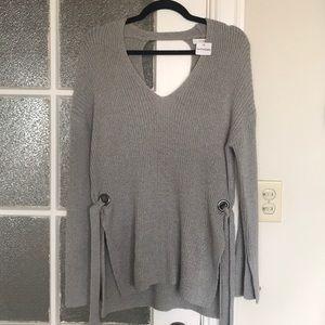 Lush Sweater Keyhole Back Tied Sides